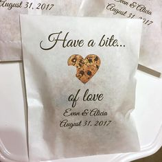 Cookie Favor Bags Custom Wedding Favors Glassine shower or #CheapWeddingFavors