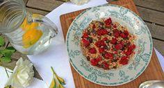 Summer Raspberry and Raisin Porridge