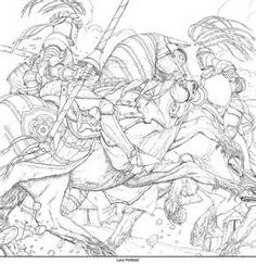 Jousting Illustration By Levi Pinfold For A Game Of Thrones Colouring Book