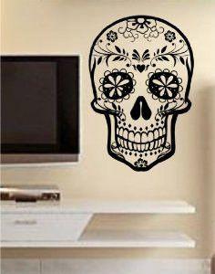 Sugar Skull Version 10 Wall Vinyl Decal Sticker Art Graphic Sticker Sugarskull
