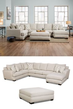 Searching for a sofa that offers plentiful seating without sacrificing style or comfort? You've found it! The beautiful Colonist sectional will be the life of the party at your next get-together or family night. The combination sofa and chaise arrangement allow you to curl up or stretch out on a whim. The Colonist Oatmeal Sectional with Chaise by Corinthian at Great American Home Store in the Memphis, TN, Southaven, MS area. #ShopGAHS #Sectional
