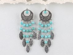 Popular burst pattern turquoise earrings.  $9.99  #jewelry #bracelet #turquoise #earrings #amethyst #turquoise earrings #turquoise bracelet