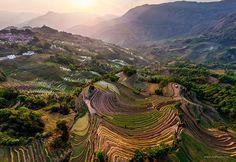 Terrazas de arroz en Yunnan China