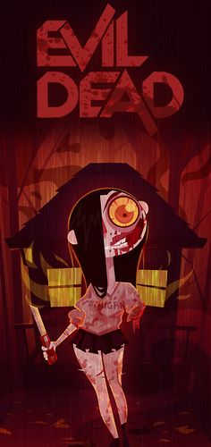 Evil Dead art of Jane Levy as Deadite Mia
