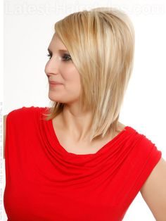 Sleek Volume Blonde Hair with Side Part View 2