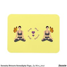 Shop Serenity Attracts Serendipity Yoga Butterfly Love Magnet created by Personalize it with photos & text or purchase as is! Wake Up Yoga, Yoga For You, Serendipity Quotes, Lotus Pose Yoga, Orange Theory Workout, Workout Results, Partner Yoga, Yoga At Home, Beautiful Yoga