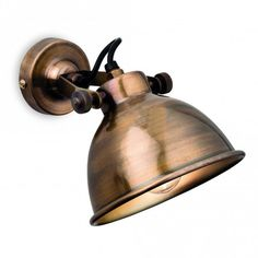 This vintage retro style wall light features thumscrews for tilt adjustment. Available in Antique Brass, Antique Copper or Antique Silver finishes. Swing Arm Wall Light, Industrial Wall Lights, Wall Spotlights, Candle Lamp, Light Shades, Wall Sconces, Antique Brass, Retro Vintage, Antiques