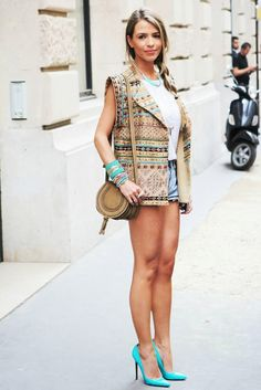 Street Style With High Heels And Upper Click the picture to see more