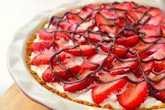 Pastel de proteínas (con fresas)