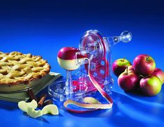 Pro-Apple Peeler Got mine at walmart for $10. Can't believe how easy it is and how fast it works