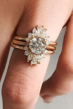 27 Unique Engagement Rings That Wow ❤️ unique engagement rings wedding set rose gold ❤️ See more: http://www.weddingforward.com/unique-engagement-rings/ #weddingforward #wedding #bride