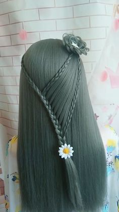 Easy Hairstyles For Long Hair, Braids For Short Hair, Braided Hairstyles, Hair Streaks, Hair Highlights, Front Hair Styles, Medium Hair Styles, Hair Style Vedio, Hairstyle Tutorial