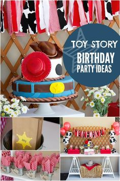 """These fabulous ideas will take your Toy Story birthday party to infinity and beyond! There may be no """"snake in [your] boots"""", but these 21 Toy Story themed birthday party ideas will add pep to Toy Story Dulceros, Toy Story Party, Toy Story Birthday, Party Themes For Boys, Kids Party Decorations, Party Ideas, Theme Ideas, Cowgirl Party, Pirate Party"""