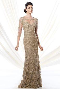 gold mother of the bride dresses | Ivonne D for Mon Cheri | Mother of the Bride Dress