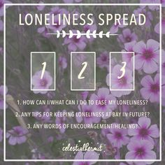 Image result for loneliness tarot spread