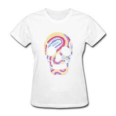 100 % Cotton psychedelic skull women t-shirt Cheap Women t shirt