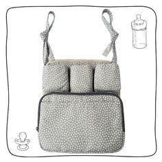 Organizador Heart: para mamadeiras, chupetas, fraldinhas de boca e até brinquedinhos. Pode ser usado no banco do carro dos pais ou no carrinho dos pequenos. Veja nas fotos do produto como utilizá-lo.