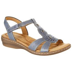 Natural Soul by Naturalizer Barroll sandals feature an ALL-THRU COMFORT footbed, floral leather detailing, metal embellishments, and perforated cutouts ...