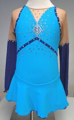 Singing in the Rain custom figure skating dress by Sk8 Gr8 Designs. www.sk8gr8designs.com