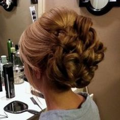 Wedding/Prom updo with crown bump bang salon & day spa Fancy Hairstyles, Wedding Hairstyles, Wedding Updo, Wedding Hair And Makeup, Hair Makeup, Prom Hair Updo, Party Hairstyle, Bridal Hairstyle, Hairstyle Ideas