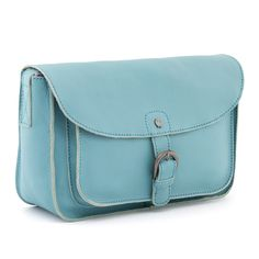 577e1f129337 The Jackman Duck Egg Blue Leather Cartridge Bag. Yoshi