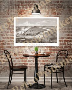 Manhattan New York: Jersey City Hoboken & by RetroPrintmaker