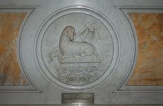 High altar, Agnus Dei medallion; Catholic Church