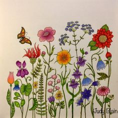 Take a peek at this great artwork on Johanna Basford's Colouring Gallery! Doodle Coloring, Coloring Books, Coloring Tips, Outline Drawings, Doodle Drawings, Johanna Basford Coloring Book, Colored Pencil Techniques, Flower Doodles, Color Pencil Art