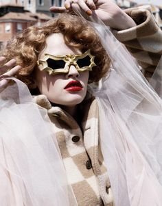Karl Lagerfeld's Fashion Shoot - Peggy Guggenheim's glasses