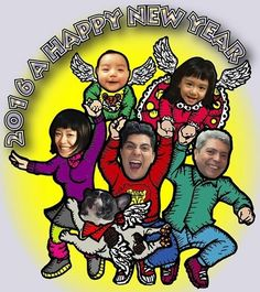"""Mr.Pancho & Bustios family """"2016"""" A HAPPY NEW YEAR"""