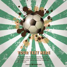 Vector plantilla de cartel de fútbol en Brasil Vector Gratis