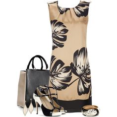 Leaf shift dress, created by mommygerloff on Polyvore