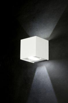 Wandlamp 71975 modern design aluminium wit mat rechthoekig