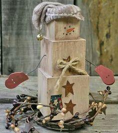 Cube snowman decoration
