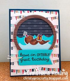 Christy Gets Crafty | Lawn Fawn Year Five - Otterly Great Birthday (video tutorial)