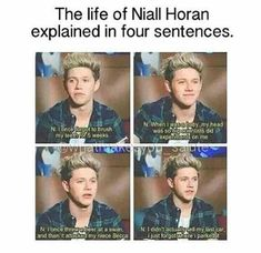 Things only Niall Horan can say 😂 One Direction Humor, One Direction Imagines, One Direction Pictures, One Direction Harry, One Direction Memes, Harry Styles, Following Directions Activities, Funny Memes, Jokes