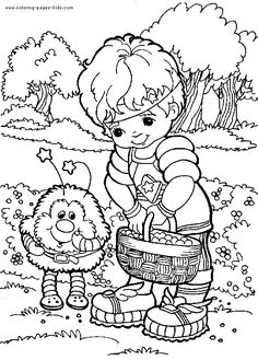Rainbow Bright Coloring Page 24 For Kids And Adults From Cartoons Pages Brite