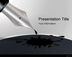 Black Ink Pen PowerPoint Template is a free ink PowerPoint template for presentations that you can download for art presentations or educational presentation slides