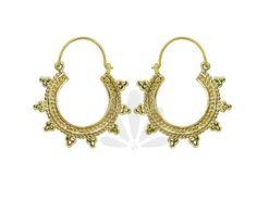 Small Hoop earrings- Sun Hoop earrings- Traditional  earrings- Indian jewelry-  Ethnic jewelry by NELAJAPAN on Etsy