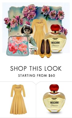 """""""Woody Ellen - Cute coin purse"""" by diaryoflady ❤ liked on Polyvore featuring Lena Hoschek and Moschino"""