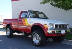 Learn more about Ironman Stewart Livery: 1981 Toyota on Bring a Trailer, the home of the best vintage and classic cars online. Toyota Pickup 4x4, Toyota Trucks, Chevy Trucks, Mazda, 2010 Toyota Tacoma, Truck Paint, Toyota Fj Cruiser, Bmw Series, Garage