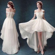 Princess lace slim princess bride high low wedding dress 2015 new