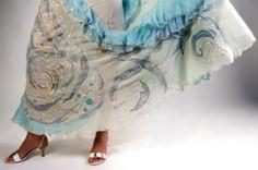 Skirt with lace inserts - Gonna con inserti in Merletto di Gorizia
