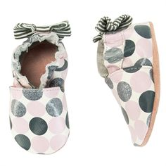 Robeez® Girls Crib/1st Walker Novelty Dot Soft Sole Shoe: for when i have kids ... Too cute!!!!