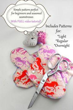 Items similar to Cloth Menstrual Pad Pattern and Video Tutorial: PDF on Etsy Sewing Hacks, Sewing Tutorials, Sewing Crafts, Sewing Projects, Sewing Patterns, Lansinoh Nursing Pads, Feminine Pads, Mama Cloth, Menstrual Pads