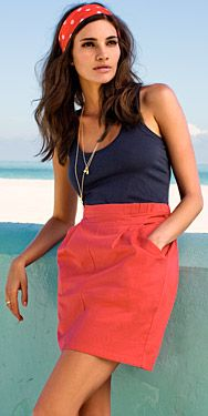 like this color combo -- navy and pinkish red?