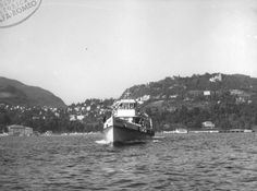 motonave Bisbino A Tour Boat with a single coupled pair of engines motori AR1627 : 1956