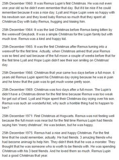 Remus Lupin - christmas part 1