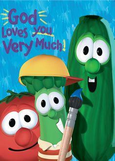 God Loves You Very Much (Big Idea Books / VeggieTales): Cindy Kenney, Bryan Ballinger God Made You, Veggietales, Love You Very Much, Prayer Book, God Loves You, Good Books, Idea Books, Kids Writing, Book Format