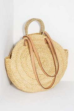 perfect bag for the beach and beyond, this round straw tote features a woven.,The perfect bag for the beach and beyond, this round straw tote features a woven. Handbags On Sale, Luxury Handbags, Fashion Handbags, Purses And Handbags, Fashion Purses, Cheap Purses, Cute Purses, Purses For Sale, Summer Purses